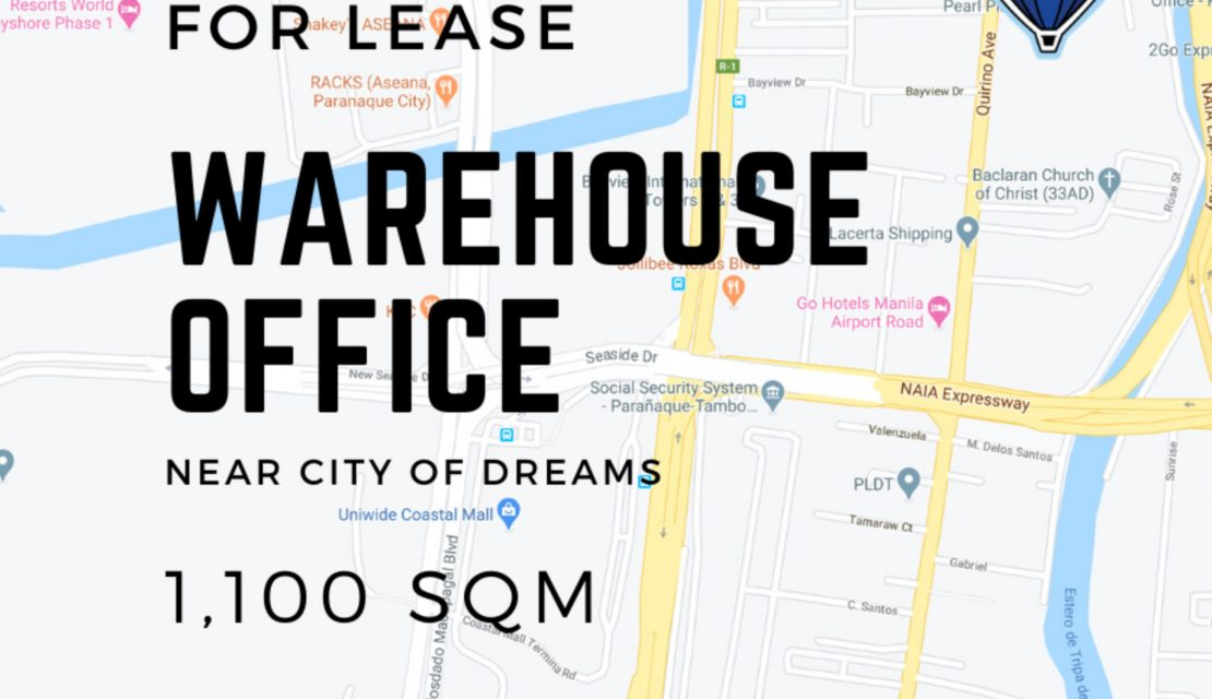BAYVIEW VILLAGE FOR LEASE Warehouse OFFICE near CITY OF DREAMS