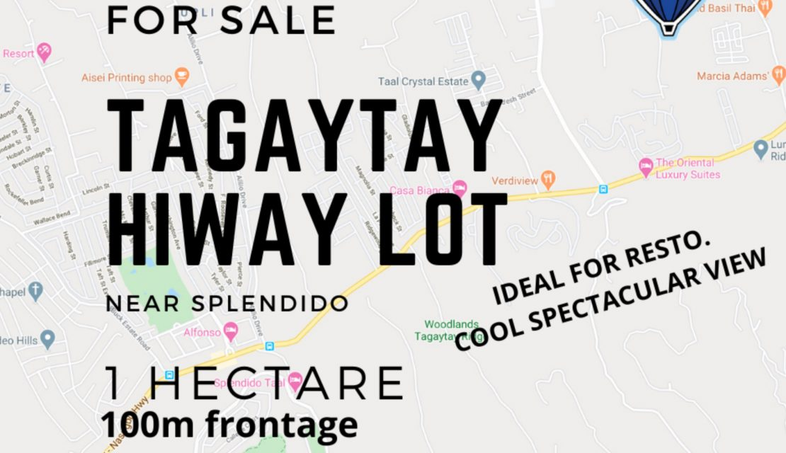 Tagaytay Hiway Lot For Sale – View of Taal !